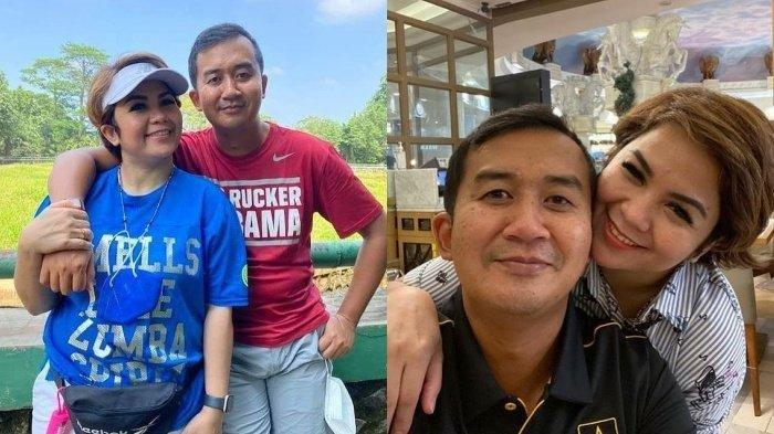 Joy Tobing dan kekasihnya Kolonel CPN Cahyo Permono