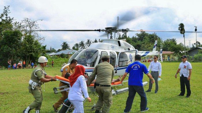 Tolong Penderita Sakit Jantung, JR Saragih Kerahkan Helikopter ke Gunung Maligas