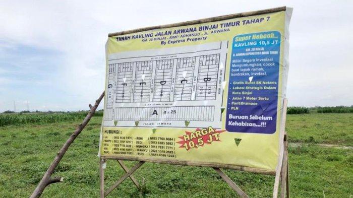 Tanah PTPN II Diperjualbelikan, Sepetak Tanah Dibanderol Rp 10,5 Juta, Humas: Kita Belum Tahu