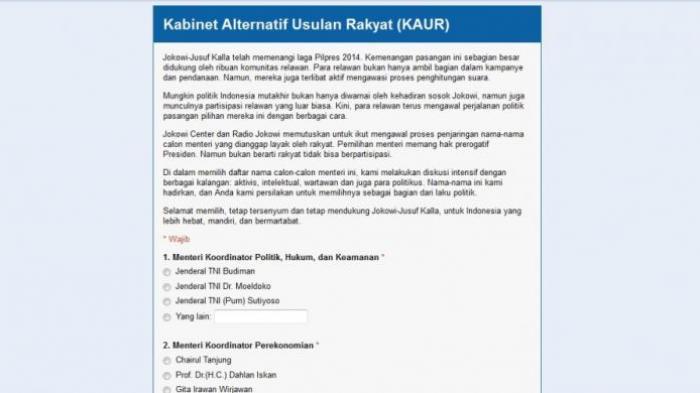 Pengamat: Audisi Publik Calon Menteri Jokowi-JK Patut Diapresiasi