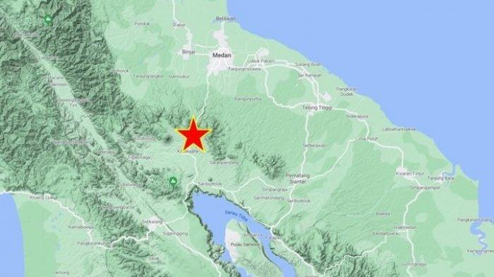 Gempa Bumi Magnitudo 2,5 Guncang Kabupaten Karo, Kedalaman Gempa 1 Km
