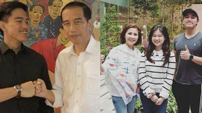 Kaesang, Jokowi, Felicia Tissue dan ibunya -