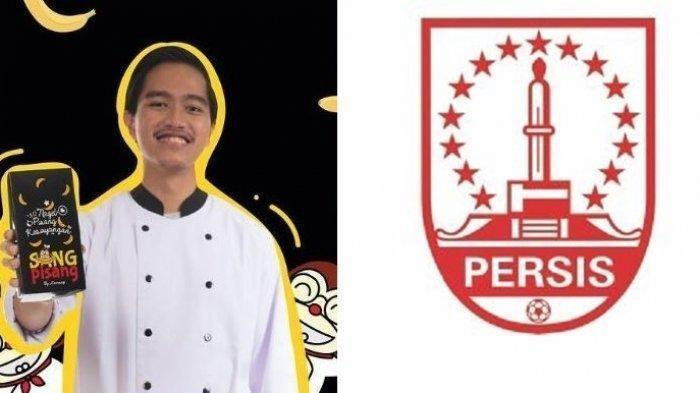Kaesang Pangarep dan logo Persis Solo