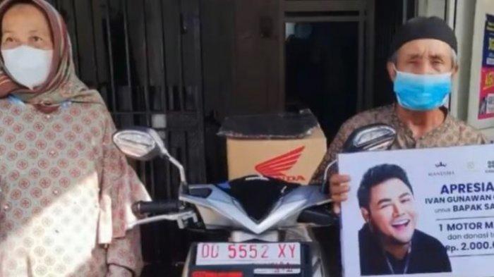 Terungkap Sosok Kakek Kayuh Sepeda 15 Km Demi Vaksin, Dihadiahi Motor Ivan Gunawan