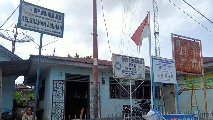 Kantor Lurah Asuhan, Kecamatan Siantar Timur, Kota Pematangsiantar, Senin (23/8/2021)