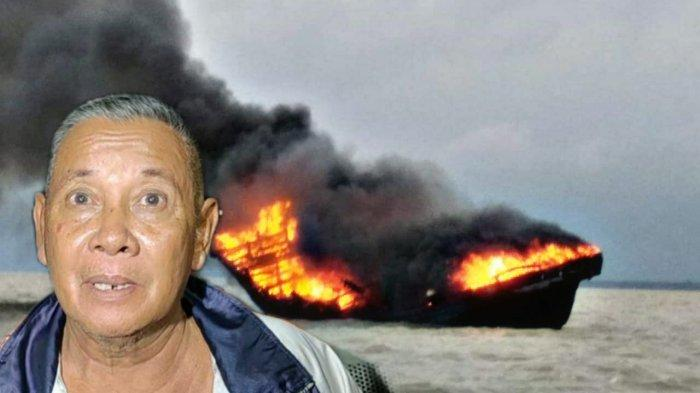 Aksi Heroik Nakhoda Kapal di Tengah Kobaran Api, Selamatkan ABK yang tak Pandai Berenang