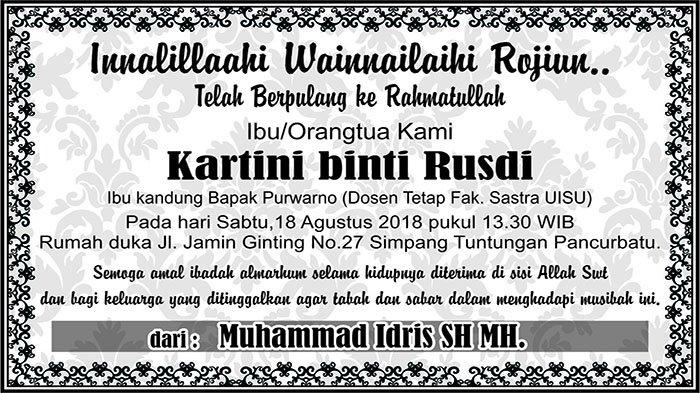 BERITA DUKACITA: Telah Berpulang ke Rahmatullah Kartini