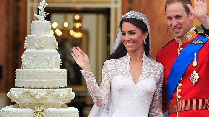 Kue pernikahan Kate Middleton dan Pangeran William
