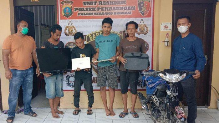 Empat Pelaku Pencurian Laptop dan TV di Kantor Desa Diciduk Polisi, Awalnya Cuma Numpang Wifi
