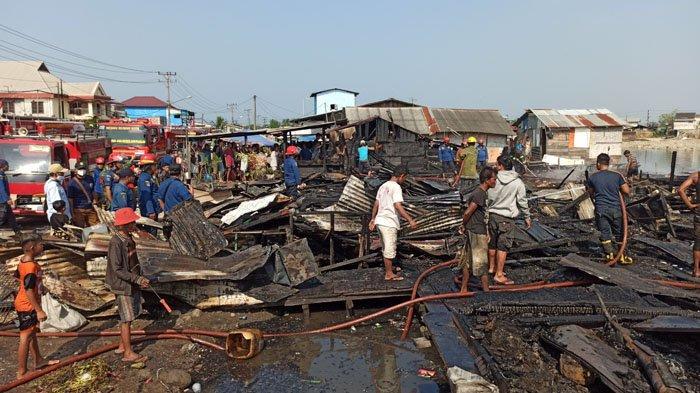 BREAKING NEWS, Kebakaran Hebat di Belawan, Terdengar Suara Ledakan, 10 Rumah Rata dengan Tanah