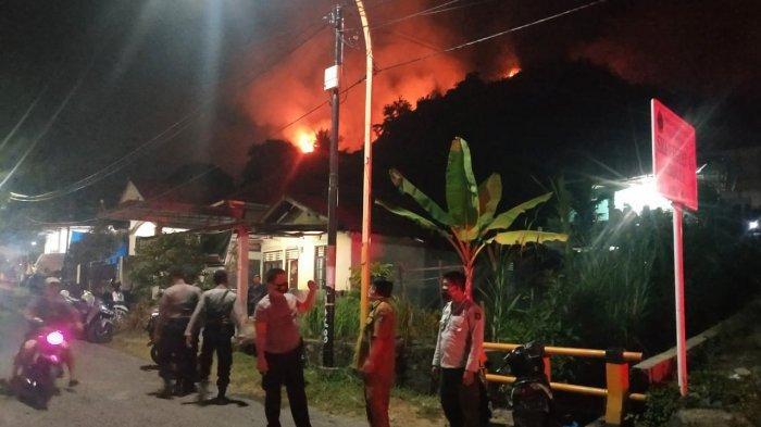 Polisi Selidiki Penyebab Kebakaran di Perbukitan Sibolga