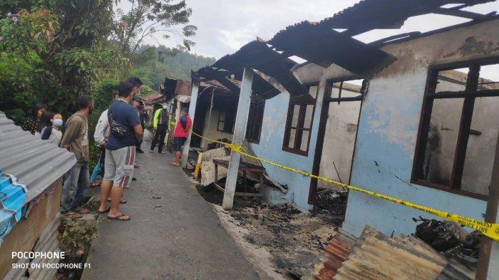 Kebakaran di Taput, Api Berkobar Saat Pemilik Rumah Tidur Pulas