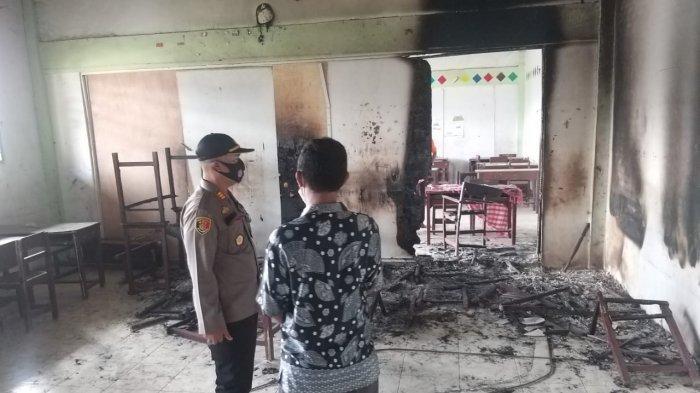 Kebakaran Madrasah Tsanawiyah di Tanjung Morawa, Dua Ruang Kelas Hangus