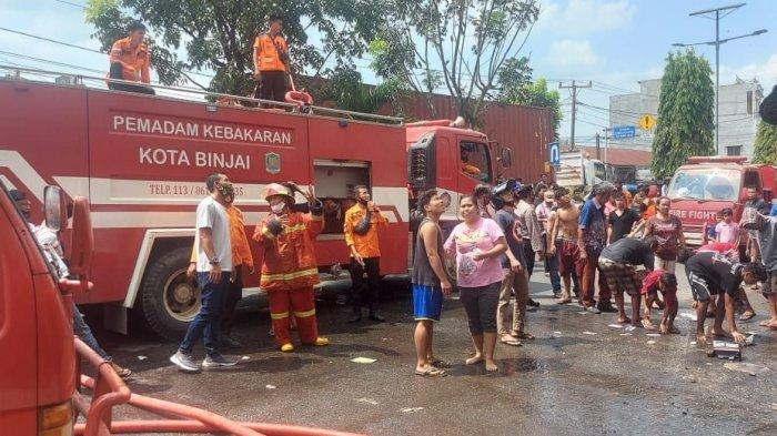 KEBAKARAN di Binjai, Api Berkobar di Lantai 3 Ruko di Jalan T Amir Hamzah