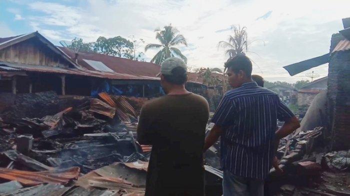 Warga Menangis Tersedu-sedu, 6 Unit Rumah di Tanjungbalai Rata dengan Tanah,