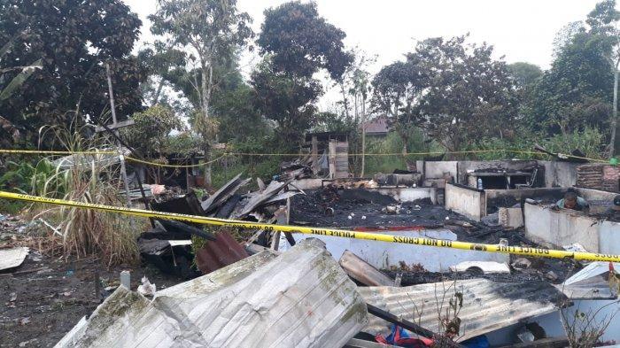 Saat Lelap Tertidur, Rumah Oppung Stefani dan Oppung Dewi di Tarutung Taput Terbakar
