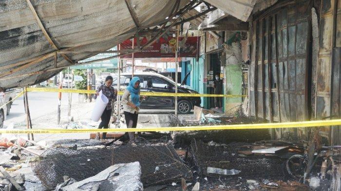 Toko Perabot yang Terbakar di Titi Kuning Tampak Hangus, Polisi Periksa Sejumlah Saksi