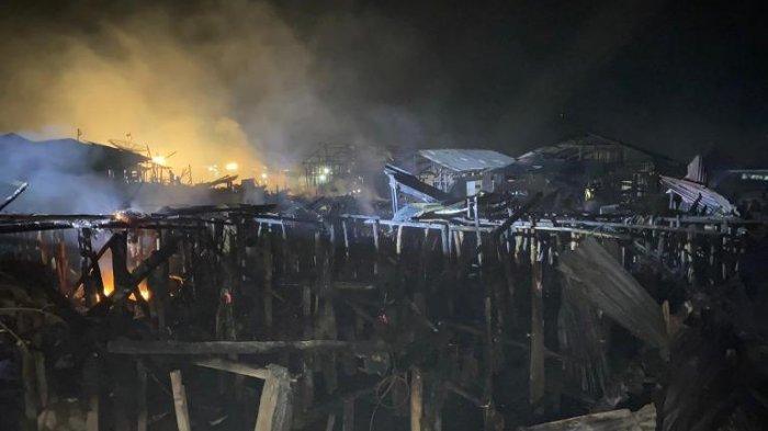Kebakaran di Aek Habil Sibolga Selatan, 30 Keluarga Kehilangan Tempat Tinggal