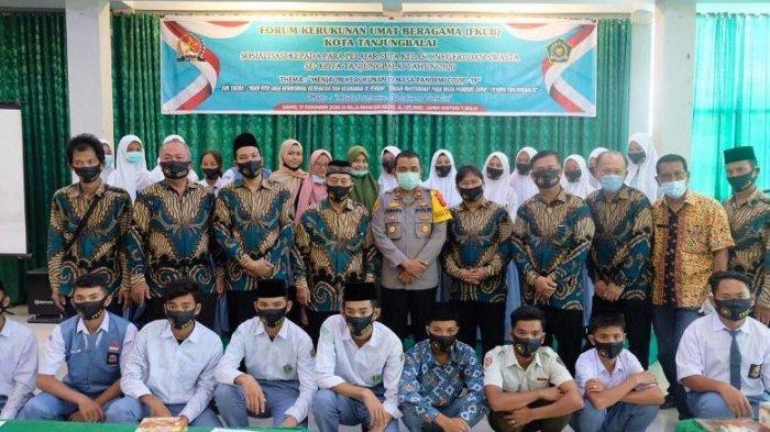Polres Tanjungbalai Apresiasi FKUB Sosialisasikan Kerukunan Beragama kepada Pelajar