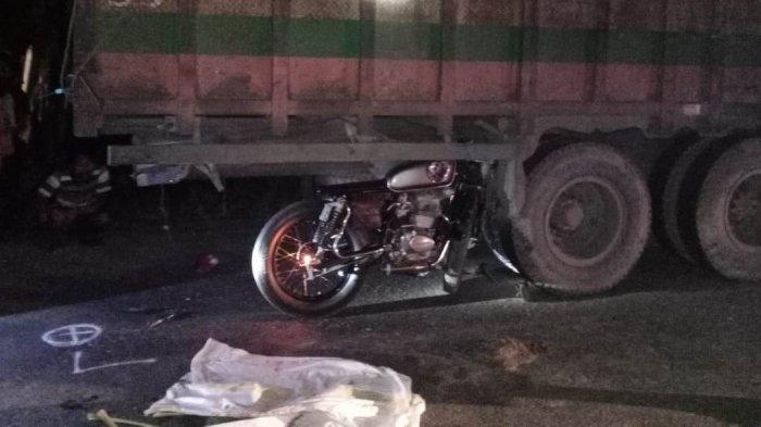 Kecelakaan di Perdagangan, Seorang Pemotor Pria 20 Tahun Tewas Seruduk Truk
