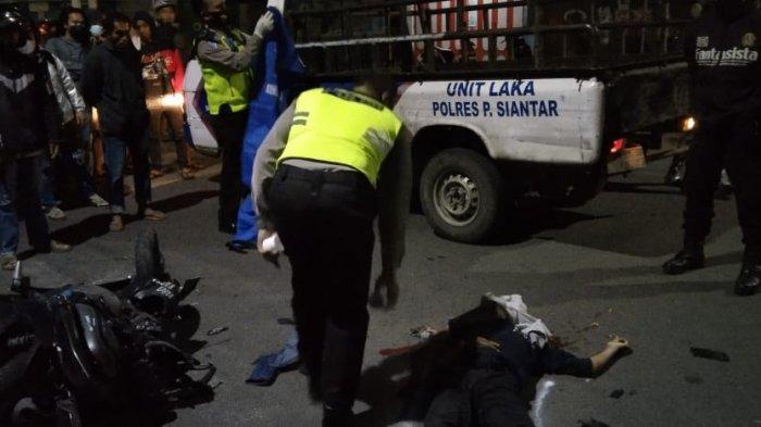 Tabrak Mobil Parkir, Remaja 16 Tahun Tewas di Jalan Merdeka Siantar