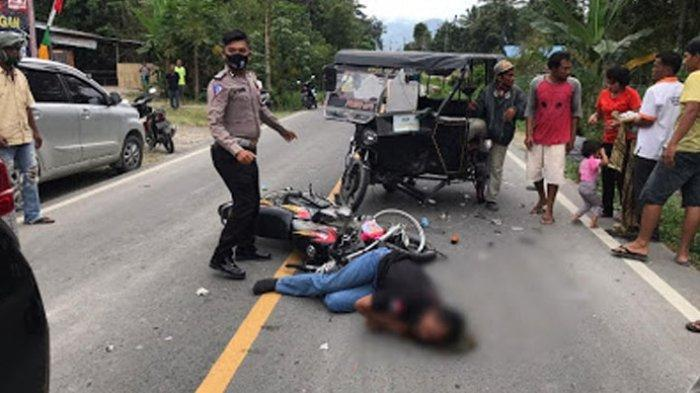 Tabrak Betor, Aven Munthe Terkapar di Depan Kantor KPU Samosir, Ditetapkan Jadi Tersangka