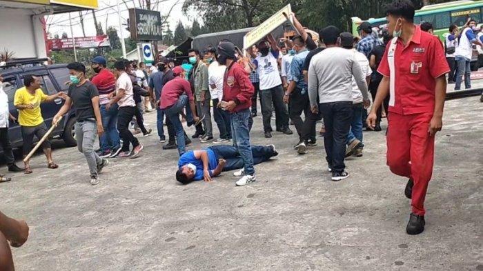 Kedatangan kubu Anti Konferensi Luar Biasa (KLB) ke Sibolangit langsung disambut dengan aksi kekerasan oleh massa Pro KLB, Jumat (5/3/2021).