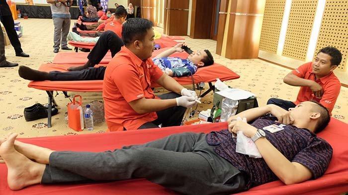 Bank Sumut Gelar Donor Darah Bekerjasama dengan PMI