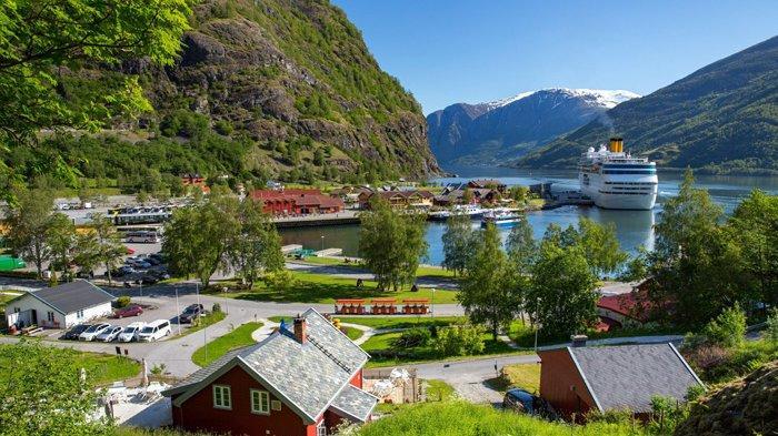 Keindahan salah satu kota di Norwegia
