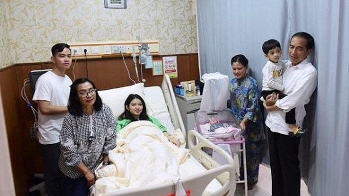 Keluarga Presiden Jokowi berkumpul saat Selvi Ananda Melahirkan La Lembah Manah
