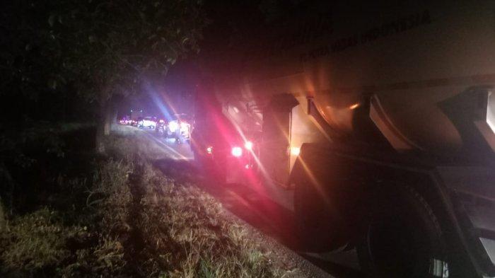 Kemacetan panjang terjadi di sekitar lokasi kecelakaan maut Bus Intra vs Avanza di kawasan Pabatu-Tebingtinggi, Sumatera Utara, Minggu (21/2/2021) malam.