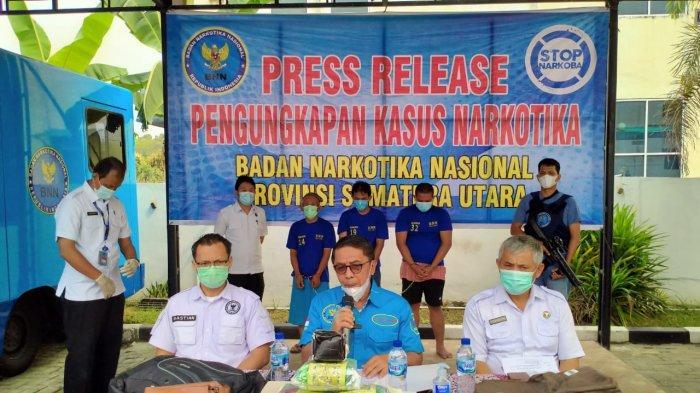 BNNP Sumut Gagalkan Peredaran 5 Kg Sabu yang Dikendalikan dari Lapas