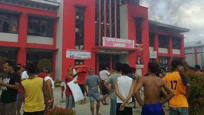 Breakingnews Penghuni Lapas Narkotika Langkat Bakar Gedung Dan Kendaraan 500 An Napi Kabur Tribun Medan