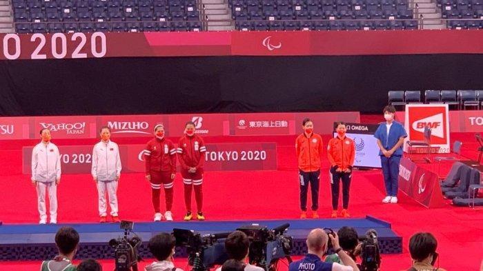 Pertama Kali, Lagu Indonesia Raya Berkumandang di Paralimpiade, Iringi Kemenangan Leani & Khalimatus