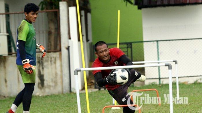 BERITA PSMS: Wajah Baru Bergabung dengan Kiper Abdul Rohim, Instruksi Pelatih Kiper PSMS M Halim