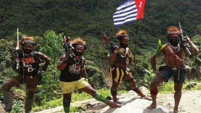 Anggota Kelompok kriminal bersenjata (KKB) di Papua.