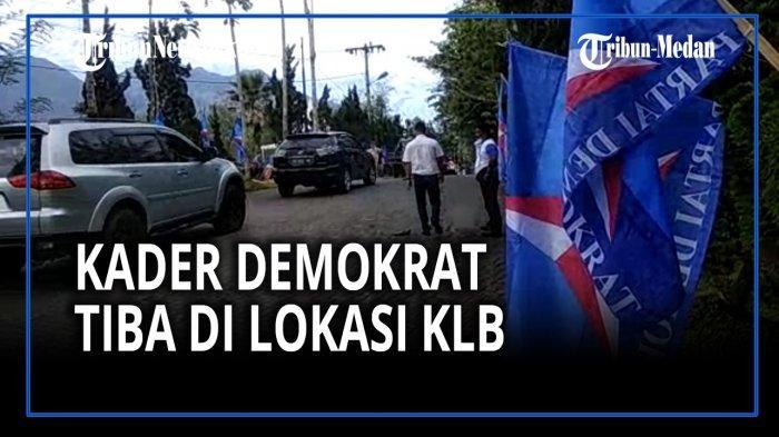 Satu per satu petinggi dan kader Partai Demokrat tiba di Hotel The Hill Sibolangit, Deliserdang, Jumat (5/3/2021), untuk melaksanakan KLB Partai Demokrat