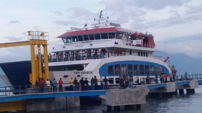 Kapal penyeberangan KMP Ihan Batak berhasil menuju rute Ajibata-Ambarita