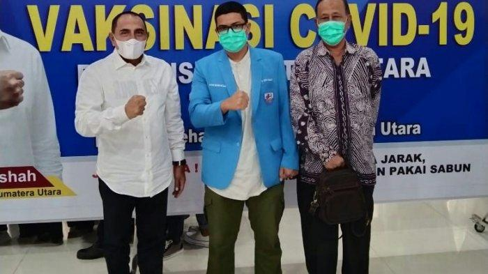 Hadiri Vaksinasi Perdana, KNPI Sumut Apresiasi Gubernur Sumut Tangani Covid-19