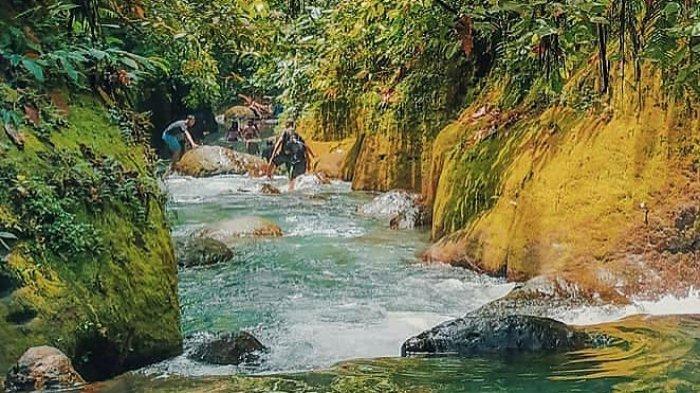 KOLAM Abadi yang berada di Desa Rumah Galuh, Kecamatan Sei Bingai, Kabupaten Langkat, Sumatera Utara.
