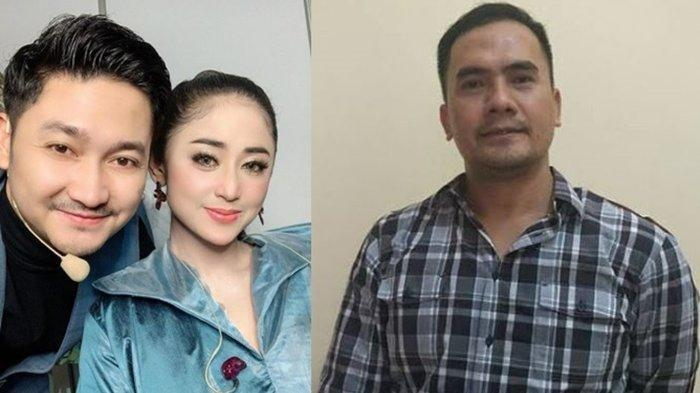 Kolase foto Dewi Perssik, Angga Wijaya, dan Saipul Jamil