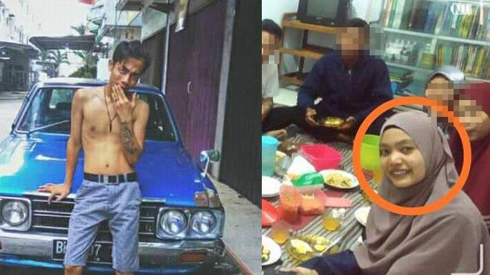 Ternyata Pelaku Pembunuh Mahasiswi di Binjai adalah Mantan Kekasih Korban. Kolase foto pelaku Ryan Afrishak dan korban Yuliza.