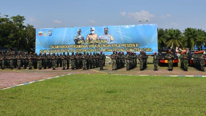 KUNJUNGAN Kerja Jokowi ke Medan dan Deliserdang, Lantamal I Siaga hingga Apel Dipimpin Pangdam