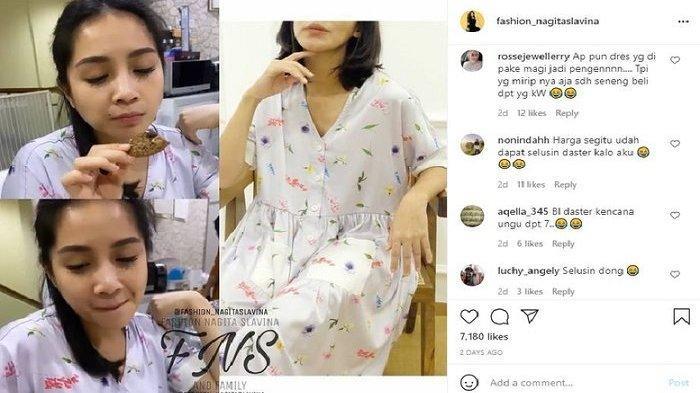 Komentar netizen melihat Nagita Slavina pakai dress rumah seharga ratusan ribu Rupiah.