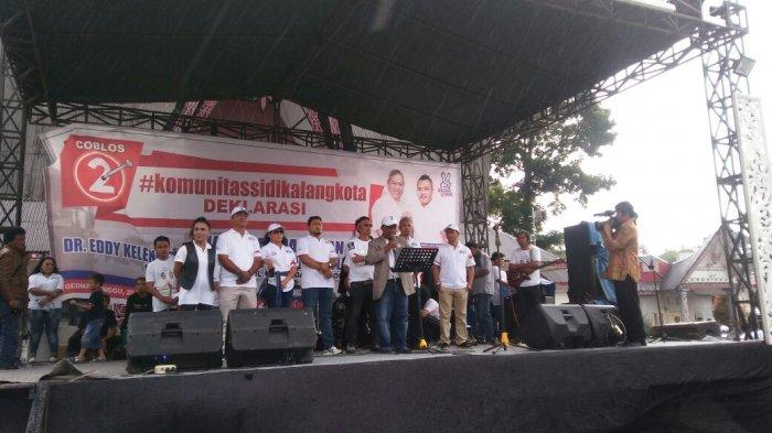 Komunitas Sidikalang Kota Gelar Deklarasi Dukungan ke Eddy-Jimmy, Kumpulkan Dana secara Swadaya