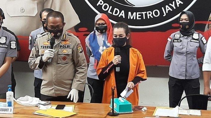 Konferensi pers pengungkapan sabu penyanyi Reza Artamevia di Mapolda Metro Jaya
