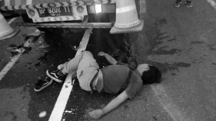 Tragis, Pria Warga Pantai Labu Ini Tewas di Tempat Usai Tabrak Truk Parkir