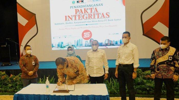 Cegah Korupsi, Bank Sumut dan Mitra Kerja Lakukan Penandatanganan Pakta Integritas