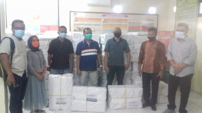 KPU Asahan Mulai Distribusikan Alat Peraga Kampanye kepada Tim Kampanye Paslon