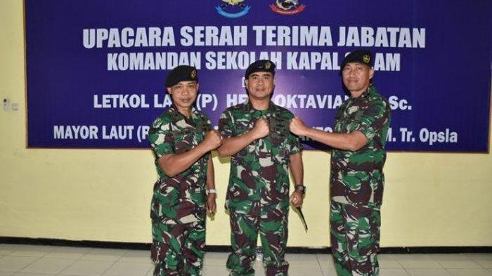 Mayor Laut (P) Fufuk Ariek Akhiranto menggantikan Letkol Laut (P) Heri Oktavian yang dimutasi sebagai Komandan KRI Nanggala-402.